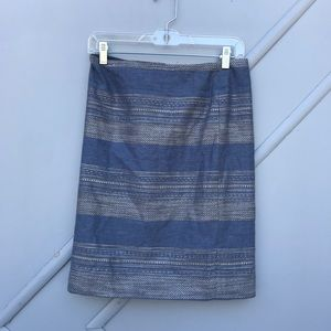 The Limited Blue and Silver Pencil Skirt 2